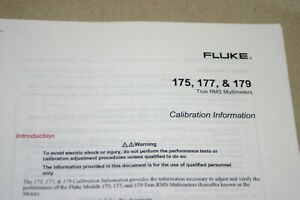 Fluke 175 177 179true Rms Multimeters Calibration Information