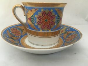 Antique Imperial Russian Porcelain Cup Saucer From Gothic Service St Petersburg