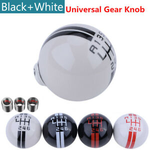 6 Speed Gear Shift Knob For Ford Mustang Shelby Gt500 White Manual Shifter