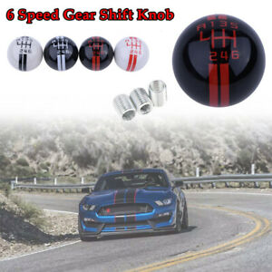 6 Speed Gear Shift Knob For Ford Mustang Shelby Gt500 Red Manual Shifter