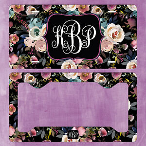 Monogram Car License Plate Frame Auto Truck Tag Vanity Plate Custom set Of 2