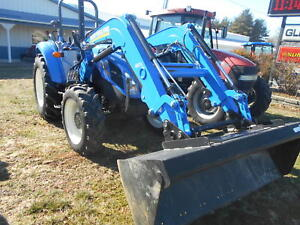 2012 New Holland Tractor T4 75 With Loader Sn Zcae03039 Mfwd