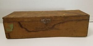 Jw Roberts Sports Dovetailed Wood Cigar Box Tampa Florida Vintage 1900s Antique