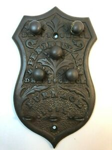 Vintage Peninsular Furnace Cover Shield Shabby Chic Cast Iron Cast Aluminum