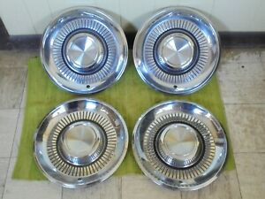 1959 Lincoln Hub Caps 15 Set Of 4 Wheel Covers 59 Hubcaps