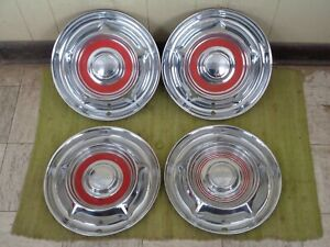 1958 Oldsmobile Hub Caps 14 Set Of 3 Wheel Covers 58 Olds Hubcaps
