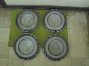 1960 Chrysler Imperial Spinner Hubcaps 15 Set Of 3 Wheel Covers 60 Hub Caps