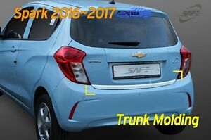 Chrome Trunk Rear Protector Cover Garnish D 066 For Chevy Holden Spark 2016 2019