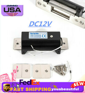 Us Ship 12v Holding Force Electric Strike Lock Door Entry Lock No Work Mode