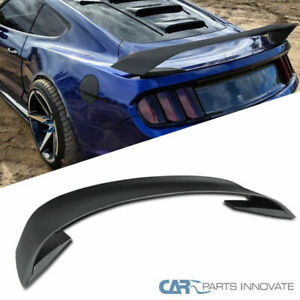 Ford 15 19 Mustang Gt350r Style Matte Black Abs Rear Trunk Spoiler Wing 3pc