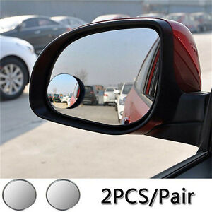 1pcs Adjustable Car Rearview Blind Spot Side Rear Small Mirror Convex Wide Angle