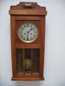 Vintage Wall Clock German Gongschlag Chimes Hour And Half Hour Vgc Lovely Clock