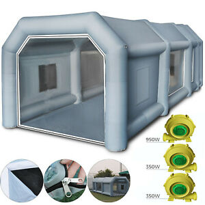 33x16x11ft Inflatable Car Spray Booth Paint Tent Portable Home Depot Workstation