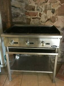 36 Atosa Commercial Gas Grill With Stand Char rock Broiler