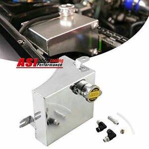 Aluminum Coolant Overflow Tank Reservoir Kit For 240sx S13 Sr20det Ka24de Ka24e