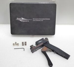 Omni spectra 2098 5657 54 Compression Crimping Tool Kit With Anvils And Case