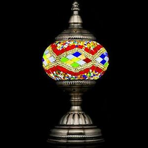 Mosaic Table Lamps Lamp Handmade Turkish With Lantern Bronze Base Unique For