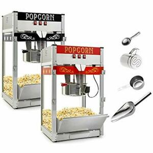 Commercial Popcorn Poppers Machine Maker With Large 12 ounce Kettle Red Kitchen
