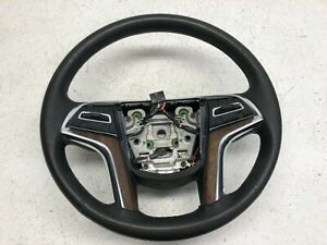 2015 2016 2017 Cadillac Escalade Leather Steering Wheel Black W brown Trim Oem