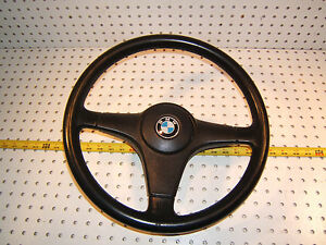 Bmw E28 535i Bmw Black Leather Steering Oem 1 Wheel Horn 1 Switch 15 Inch T 2