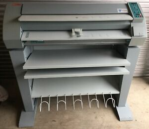 Oce 7051 Wide Large Format Plain Paper Copier With Stand Blueprints Plotter
