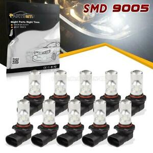 10x 9005 80w Xenon White Led Replacement For Fog Driving Light Bulb Us