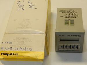 Philips Rly4996a R65 11ad10 Programmable Time Delay Relay 0 1 Sec To 9990 Hour