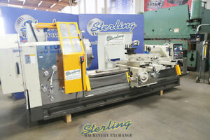 35 52 X 100 Used Eisen Heavy Duty Hollow Spindle Gap Bed Engine Lathe With D