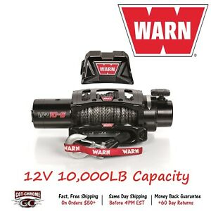 96815 Warnvr10 S Vehicle Mounted Recovery Winch 12v 10000lb Pull 90 Synthetic