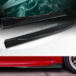 2pc Universal Carbon Look Side Skirt Rocker Splitters Winglet Diffuser 31 X 4