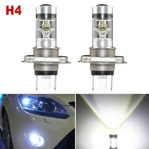 2x H4 100w Cree Led Fog Light 20smd Drl Driving Bulb Daytime Running Light White
