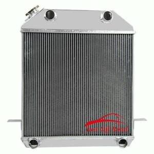 4 Row Radiator For Ford Model flathead deluxe pickup V8 Engines 1939 1941 1940