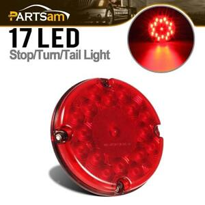 Red 7 Round 17 Led Stop Turn Tail Brake Clearance Marker Reflective Bus Light