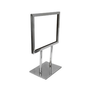 7 1 4 X 5 3 4 Chrome Plated Steel Counter Cardframe Display Fixture Retail Store