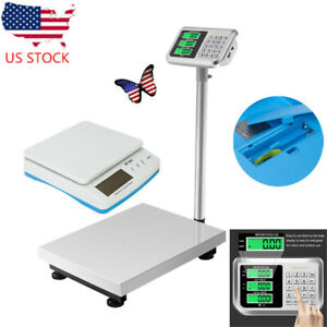 300kg 661lbs Electronic Weight Scale Lcd Display Personal Floor Postal Platform