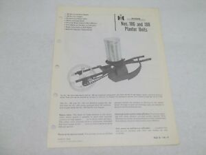 International No 186 And 188 Planter Units Sales Reference Brochure