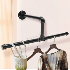25 Steampunk Industrial Iron Pipe Clothes Hanger Shelving Slelf Laundry Rack
