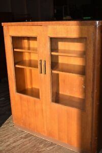 Mid Century Art Deco Wood Doctor S Medical Cabinet Stow Davis Ny University