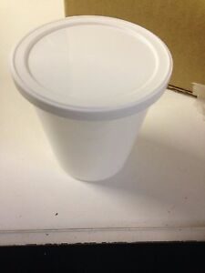 125 New White Fisherbrand Container Specimen With Lids 80 Oz J1315 B9
