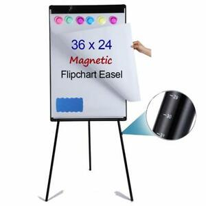 Portable Magnetic Dry Erase Board Easel 24 X 36 height Adjustable Whiteboar