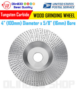 4 Inch 100x16mm Angle Grinder Wood Grinding Wheel Sanding Shaping Carving Disc