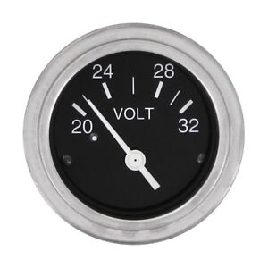 Heavy Duty 24v Voltmeter Gauge Work With Stewart Warner Sending Unit 80131p