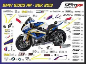 Stickers Decal Moto Compatible With Bmw S 1000 Rr 2009 2014 Sb13