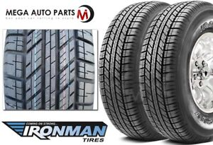 2 New Ironman Rb Suv 245 70r17 110s White Letter All Weather Touring Tires