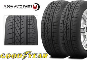 2 New Goodyear Excellence 245 45r18 96y Rof High Performance Tires Rft Run Flat