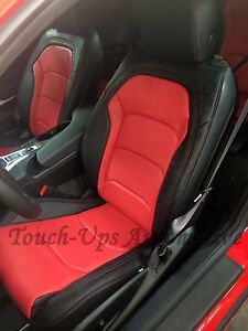 2016 2021 Chevrolet Camaro Coupe Ls Rs Ss Black Red Leather Seat Covers Katzkin