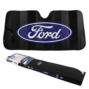 New Ford Car Truck Black Windshield Front Folding Sun Shade Sunshade 27 x58