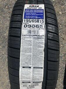 195 65 r15 Riken Raptor Hr Tires set Of 4