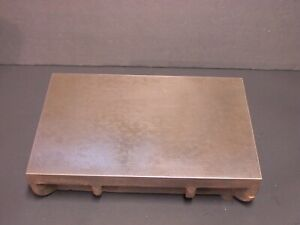 Machinist Cast Iron Layout Inspection Surface Plate 12 X 8 X 2 3 4