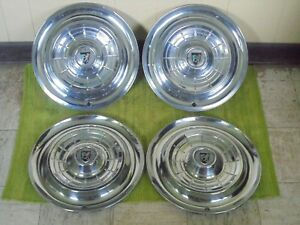 1955 Chrysler New Yorker Hub Caps 15 Set Of 4 Mopar Wheel Covers Hubcaps 55